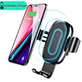 iphone 5 air vent car holder - Baseus Wireless Car Charger Air Vent Phone Holder Gravity Car Mount Fast Charging for Samsung Galaxy S8, S7/S7 Edge, Note 8 5 and Standard Charge for iPhone X, 8/8 Plus & Qi Enabled Devices (Black)