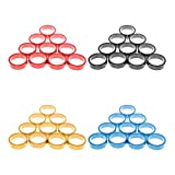 MonkeyJack 40 Pieces/set Aluminum Alloy Mountain Bike MTB Washers Headset Spacer for 1-1/8inch Road Bicycle Stem