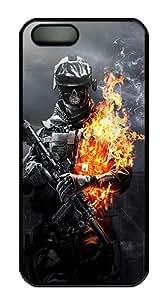Skull Warrior Polycarbonate Custom iPhone 5S/5 Case Cover - Black
