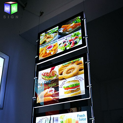 Double Side Acrylic Led Poster Frame For Real Estate Window Sign With Ceiling (Real Estate Led)