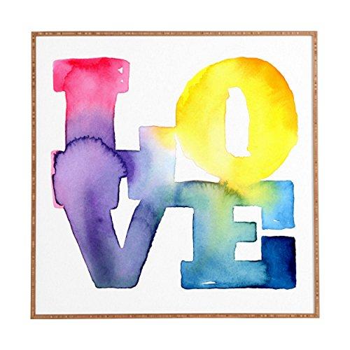 Love Wall Design - Deny Designs CMYKaren Love 4 Framed Wall Art, 30 x 30