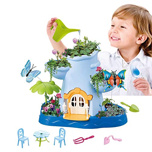 Vokodo Kids Magical Garden Growing Kit Includes Tools Flower Plant Tree Interactive Play Fairy Toys Inspires Learning and Ecological Educational Perfect for Children Girls Boys (Childrens Seed Kit)