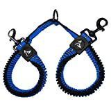 KRUZ PET KZVX2-15M No Tangle Dog Bungee Leash Coupler, Walking 2 Dogs, Medium