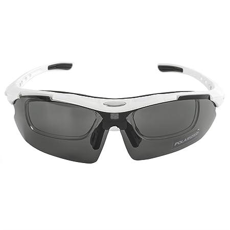 c37a3d9882 KT SUPPLY Gafas de Sol Deportivas Polarizadas TR90 incluye 5 tipos de lentes  intercambiables (BLANCO): Amazon.es: Deportes y aire libre