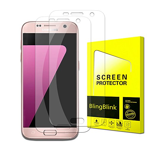 Samsung Galaxy S7 Screen Protector [Full Coverage],BlingBlink [Update Version] [2-Pack] [Anti-Bubble] [HD Ultra Clear Film] Edge to Edge PET Screen Protector for Samsung Galaxy S7