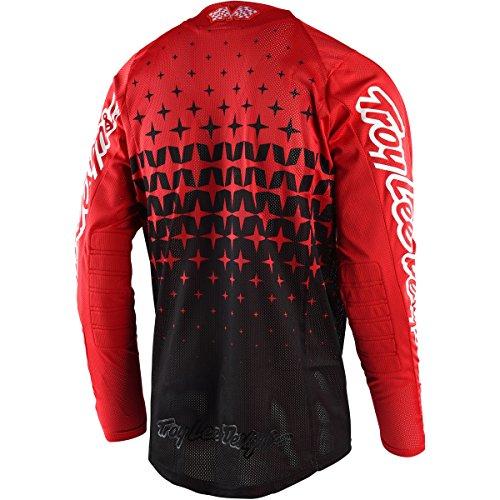 Troy Lee Designs SE Air Megaburst Men's Off-Road Motorcycle Jersey - Red/Black / Large by Troy Lee Designs (Image #1)