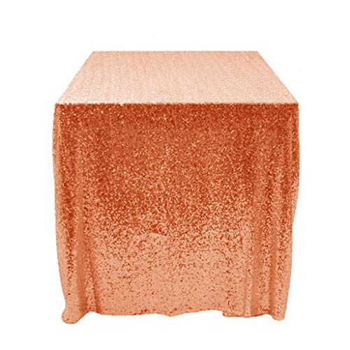 Sequin Tablecloth Orange 50x50-Inch Table Cover Shimmer Orange Table Cloth Table Linens Around The  sc 1 st  Amazon.com & Amazon.com: Sequin Tablecloth Orange 50x50-Inch Table Cover Shimmer ...