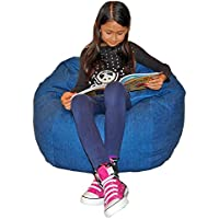 Ahh! Products Denim Blue Washable Kid Bean Bag Chair