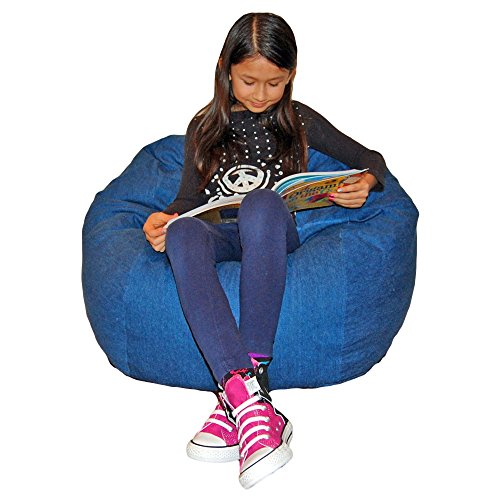 Ahh! Products Denim Blue Washable Kid Bean Bag Chair by Ahh! Products