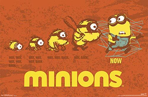 Trends International Minions-Evolution Mount Bundle Wall Poster, 22.375