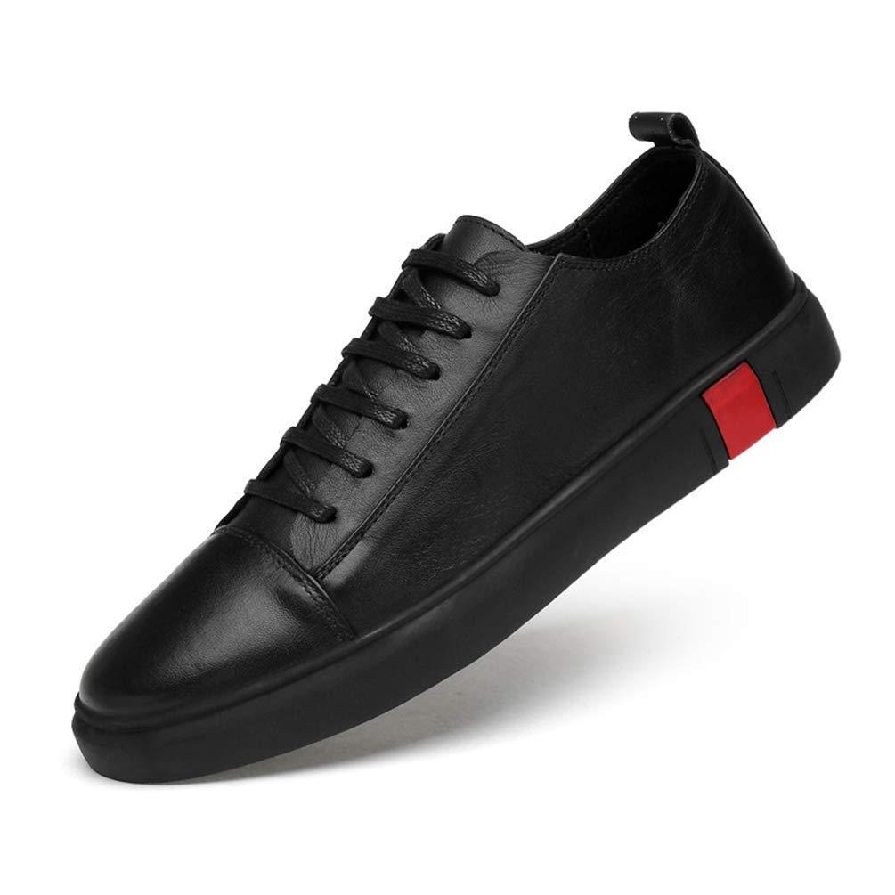 Herren Wanderschuhe Leder Schnürschuhe Wasserdichte Sportschuhe für Männer (Farbe   2 schwarz, Größe   9 UK)