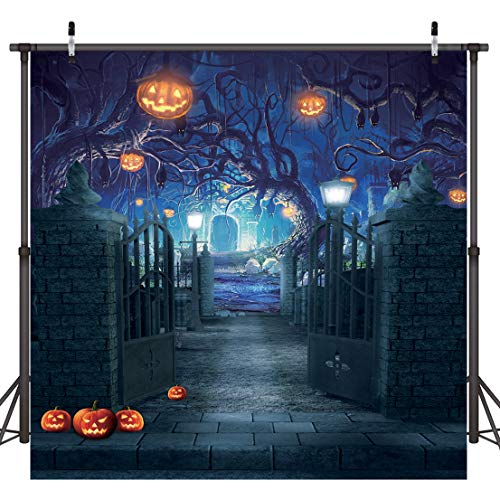 Halloween Party Photo Backdrop (Dudaacvt 8x8ft Halloween Photography Backdrops Halloween Decorations Backdrop for Photography Horrible Party Background Photo Studio Booth)