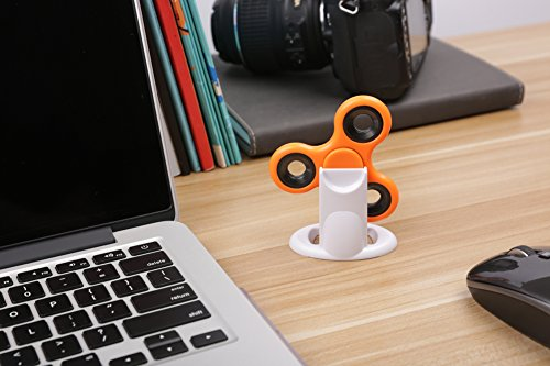 ChasBete New Amazing Fidget Spinner Stand Best Accessory For Tri-spinner Hand Toys-Cool Stylish Strong Display Holder Organizer For Desk-Handsfree Stress- Relieving Spinning, White