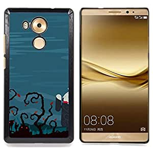 Funny Zombie Tech Caja protectora de pl??stico duro Dise?¡Àado King Case For Huawei Mate 8