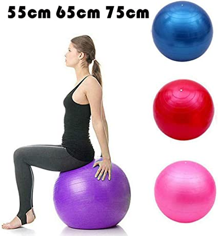 55 Cm 65 Cm 75 Cm Bola De Yoga Bola Pilates Fitness Gym Balance ...