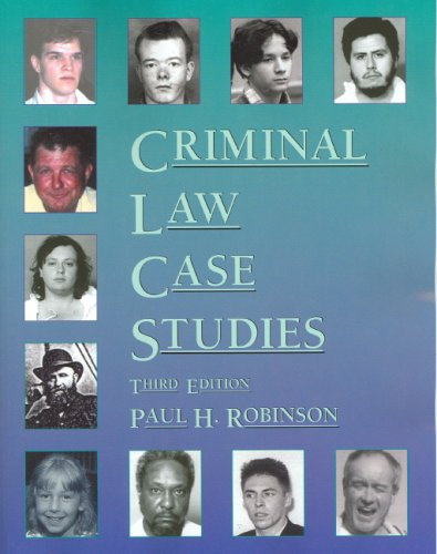 criminal law case studies canada Canada - national, criminal law, case studies by desmond brown  in 1892  the canadian parliament enacted the criminal code drafted in just over a year.
