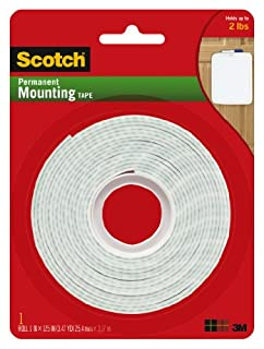 Scotch Permanent Mounting Tape, 1 Inch x 125 Inches (B00347A8GC) | Amazon price tracker / tracking, Amazon price history charts, Amazon price watches, Amazon price drop alerts