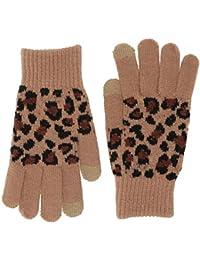 Women's Leopard Magic Glove, Tan, One Size
