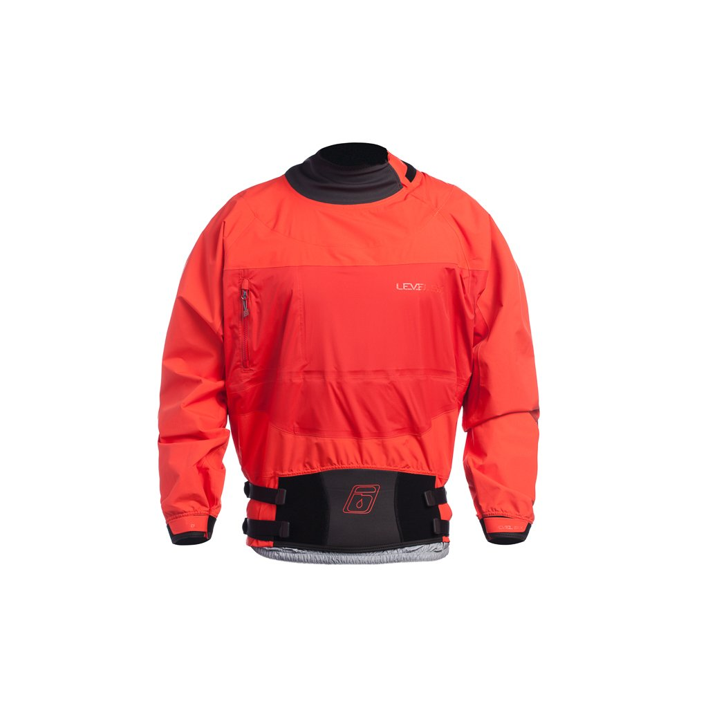 Level Six Borealis Long Sleeve Semi Dry Top, X-Large, Molten Lava by Level Six