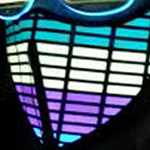 DNA INC Sound Activate LED Flashing Cosplay Bandanna USA (Multi)