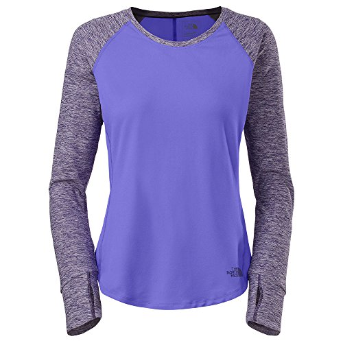Face Long Sleeve Shirts (THE NORTH FACE Women's Motivation Long-Sleeve Tee Shirt Starry Purple)