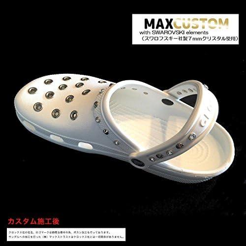 クロックス スワロフスキー x パンク カスタム 白 ホワイト crocs custom SWAROVSKI x Punk