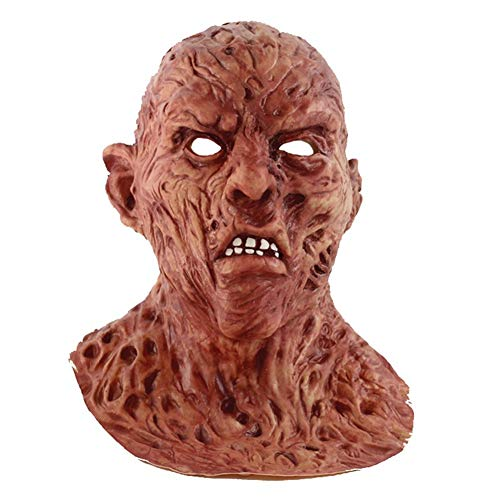Freddy Krueger Meme (HS-ATI WSJ Cosplay Freddy Krueger Mask Halloween Mask Party Mask Adult Scary Horror Costume Fancy Dress Scary Mask Halloween)