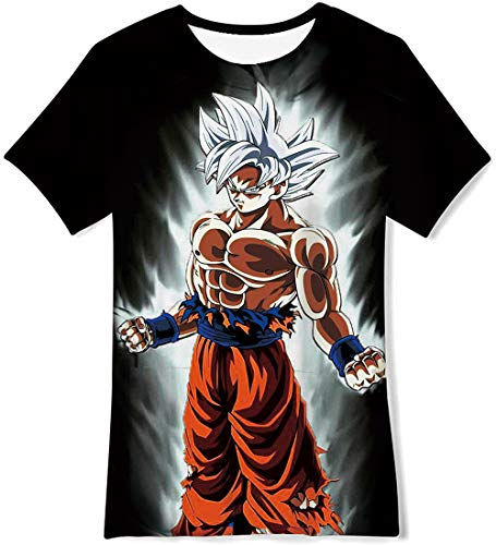 OPCOLV Unisex 3D Novelty Graphic T-Shirt Boys' Girls Dragon Ball z Goku 3D Printed Top Shirts Short Sleeve for 10-12 Years]()
