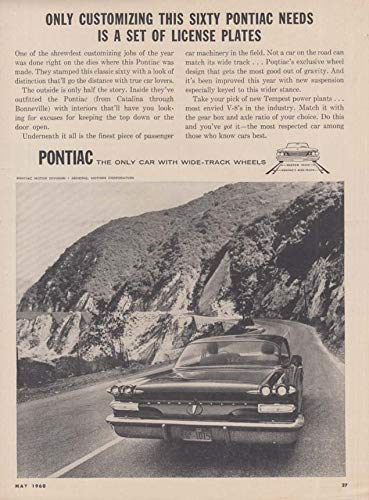 Only customizing needed is a set of license plates Pontiac Bonneville ad 1960