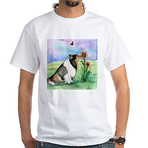 - CafePress Sheltie Shetland Sheepdog T-Shirt 100% Cotton T-Shirt, White