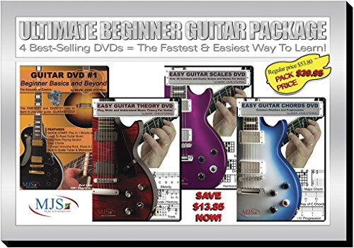 Ultimate Beginner Guitar Package: 4 Best-Selling DVDs = The Fastest & Easiest Way To Learn!