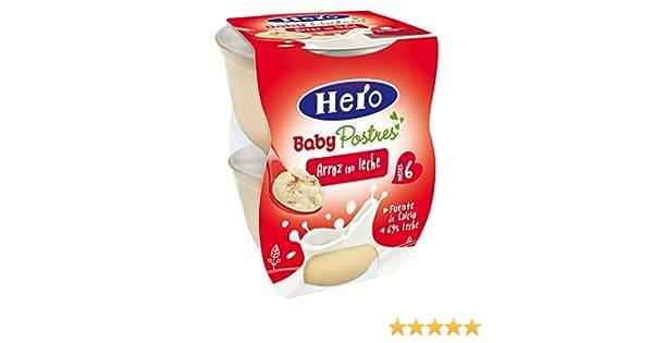 Hero Baby Postre Arroz con Leche, Tarrina de Plástico - Paquete de 2 x 130 gr - Total: 260 gr: Amazon.es: Alimentación y bebidas