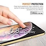Trianium (3 Packs) Screen Protector Designed for Apple iPhone Xs & iPhone X 2018 2017 Premium HD Clarity 0.25mm Tempered Glass Screen Protector with Alignment Case Frame [3D Touch] (3-Pack)