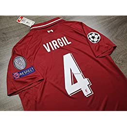 BROOK Virgil#4 Liverpool Champion League Final Madrid 2019 Maillot Full UCL. Patch