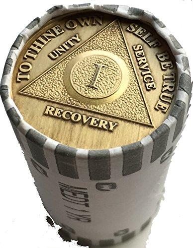 wendells Bulk Lot of 25 AA 1 Year Medallions Bronze Group Refill Medallion Chips from wendells