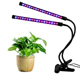 MULGORE LED Grow Light Plant Light Dual Head Led Light with Metal Clips and Metal Head for Indoor Plant 18W 2017