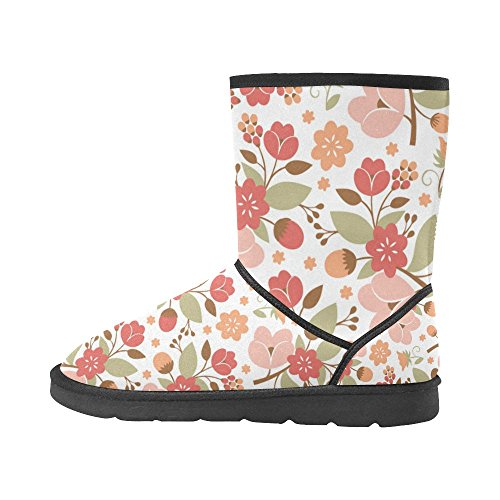 12 Animals Print Graphic Size InterestPrint Cute Boots Snow For Flowers 5 Classic 5 Strawberry Pattern Color14 Fox Women 7wwqxAzaX