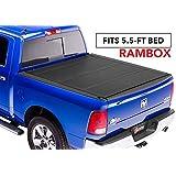 "BAK MX4 Hard Folding Truck Bed Tonneau Cover | 448227RB | fits 2019 Dodge Ram With Ram Box 5' 7"" bed, Premium Matte Finish"