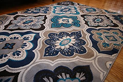 Generations New Contemporary Panel and Diamonds Modern Area Rug, 8' x 10.2', (Area Rugs 8x10 Modern)