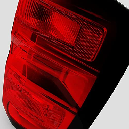 For Chevy Silverado 1500 2500 HD 3500 HD GMC Sierra 3500 HD Pickup Truck Red Clear Driver Left Side Tail Light Replacement