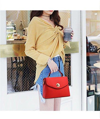 Mensajero Europeas Bolsa Bolso Bolso Temperamento Red Elegante Salvaje Coreano Simple Mujeres y de de de Americanas Mano Ocio y Moda de Bolsa Coreano 1qdnHxa