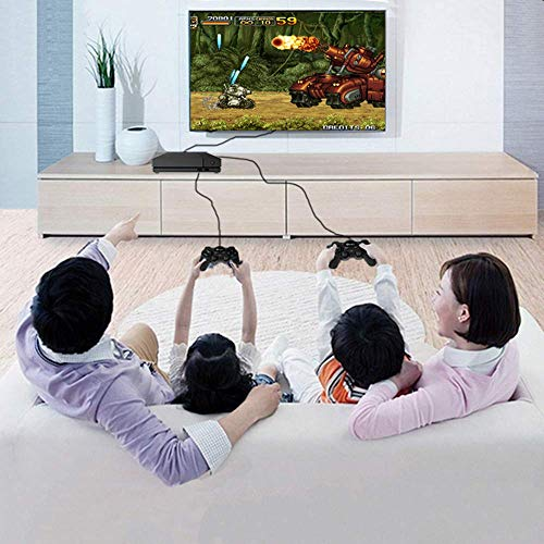 BAORUITENG Retro Game Console, HD Video Game Console 843 Classic Games 4K HDMI TV Output with 2PCS Joystick for a Great Gifi for Game Player (Black) by BAORUITENG (Image #5)