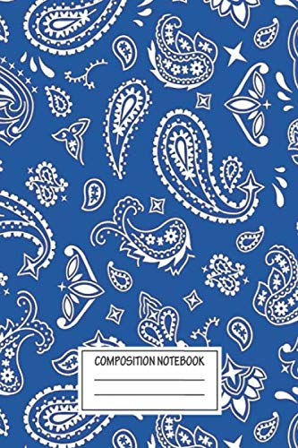 """Notebook: Bandana Seamless Pattern Blue , Journal for Writing, Size 6"""" x 9"""", 164 Pages"""