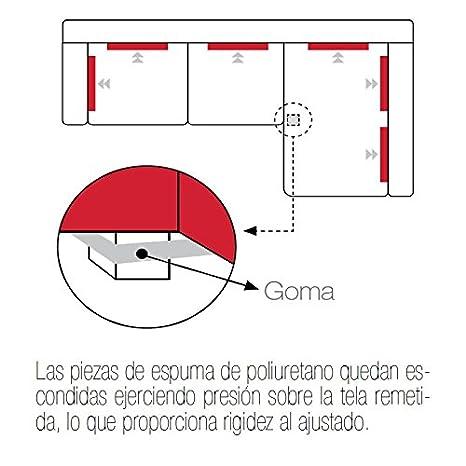 Funda de Chaise Longue Modelo PUEBLA, Color MARFIL C/1, con Brazo Largo a la Derecha (Mirándolo de frente): Amazon.es: Hogar