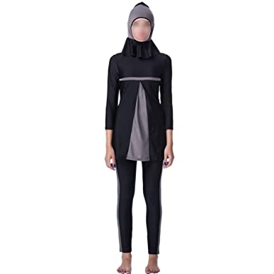 8f0e690c2f16c Meijunter 3 Pieces Long Sleeve Muslim Swimwear Modest Islamic Arabic Hindu  Jewish Burkini Full Cover Sun Protection Surfing Suit Dubai Women Beachwear  with ...
