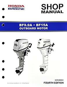 amazon com honda bf9 9 bf15 marine outboard service repair shop manual sports   outdoors Honda 500F 15 honda bf15 service manual