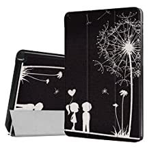 ERLI Samsung Galaxy Tab A 10.1 With S Pen (SM-P585/SM-P580) Case, PU Leather and Hard PC Slim-Fit Flip Stand Smart Case Cover (With Auto Wake / Sleep Feature) for Samsung Galaxy Tab A 10.1 With S Pen (SM-P585/SM-P580) Tablet (Black Lovers)