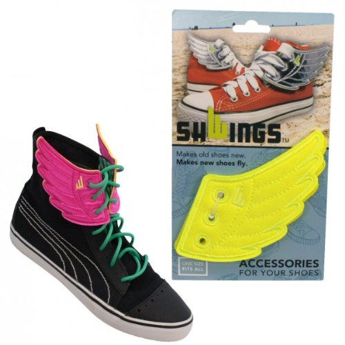 Shwings Schuhzubehör in Rossmore Gelb Neon - Make Old Shoes New! Make New Shoes Fly!