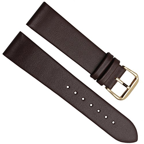 18mm Handmade Vintage Cowhide Leather Watch Strap/Watch Band (Silver Buckle/Brown)