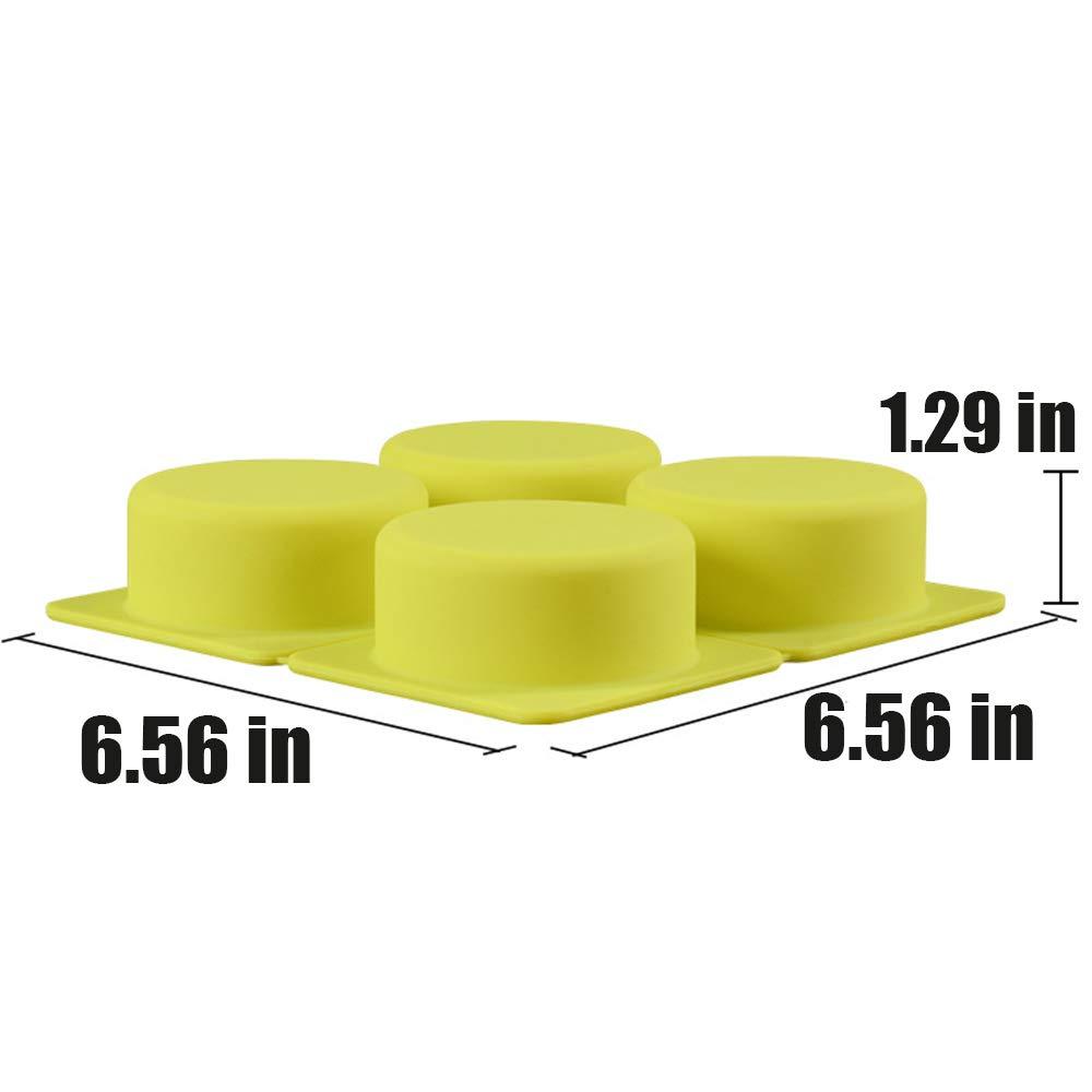 2 Pcs 4 Cell Sponge Finger Silicone Soap Mold Cake Bar Bakeware Mold Baking Tray Round